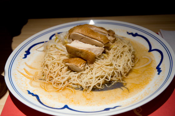 Smoked chicken noodles