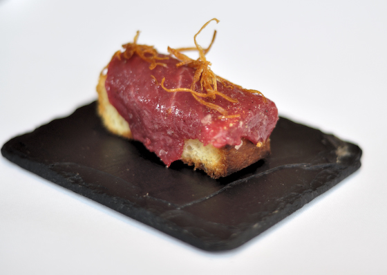 Carpaccio of Roe Deer on Toasted Brioche