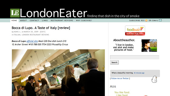 New London Eater site design