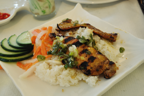 Grilled Pork Chop on Rice