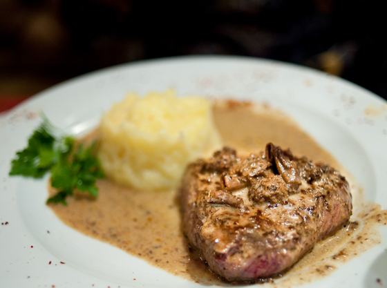 FIllet Steak with Mushroom Sauce