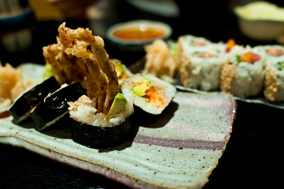 Tomoe: Soft Shell Crab Roll