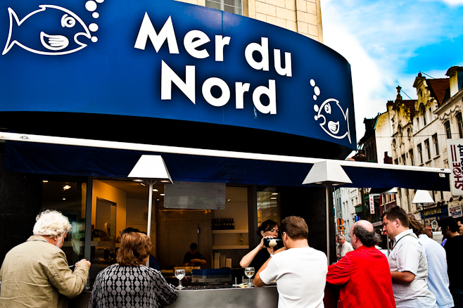 Eating in Brussels: Mer du Nord.