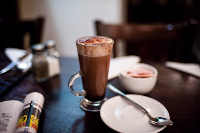 The mocha at Hache