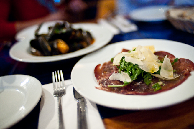 Made in Italy: Beef Carpaccio and Mussels